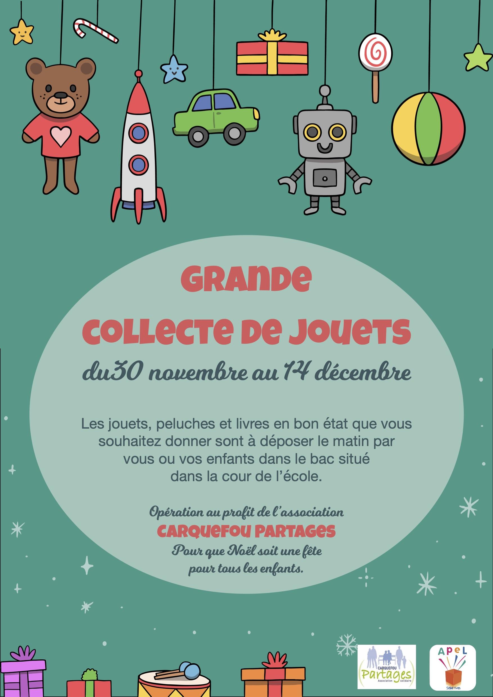 Grande collecte de jouets - APEL Saint Yves - Carquefou Partages
